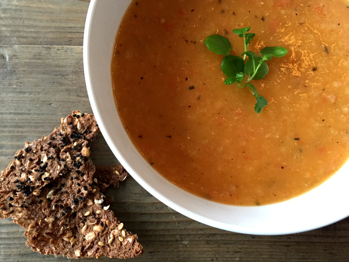 Hjemmelavet tomatsuppe