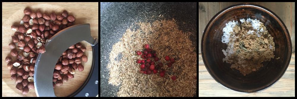 Ingredienser til dukkah