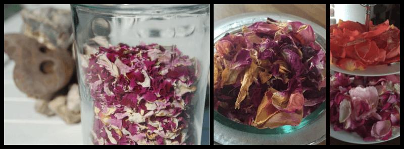 Tørrede rosenblade