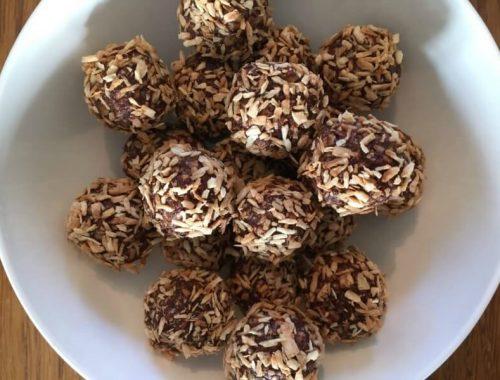 Havregrynskugler med ristet kokos