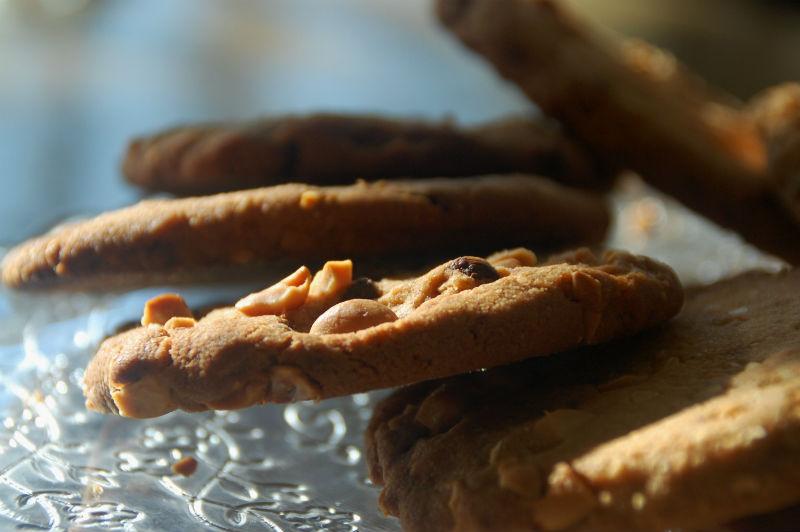 Småkager med peanuts og peanutbutter