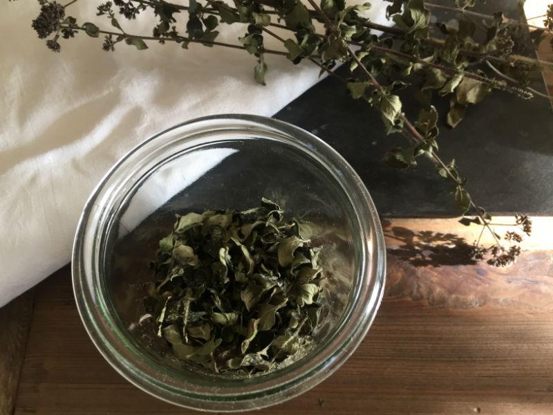 Tørring af oregano