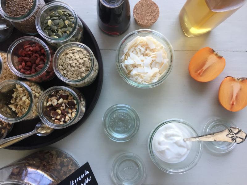 Et udvalg fra yoghurtbaren