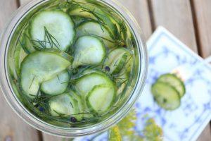 Syltede agurker fra haven