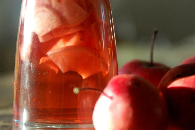 Æbleeddike lavet af æbler fra haven