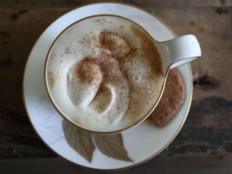 Café latte med græskarsmag
