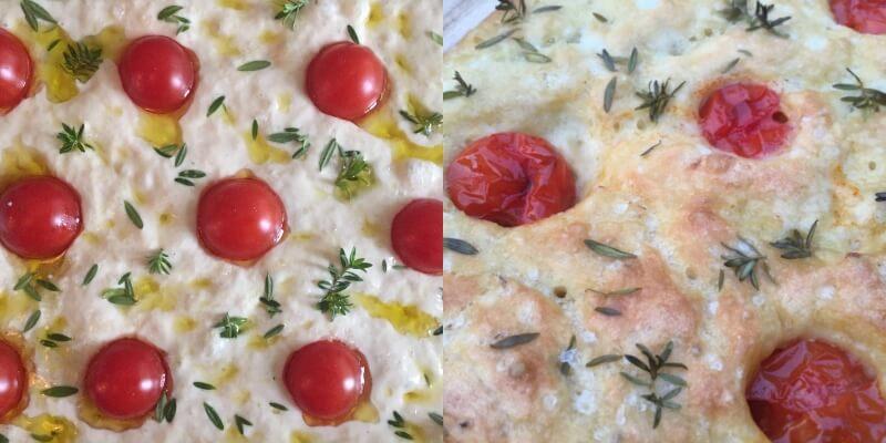 Lav din egen focaccia med rosmarin og cherrytomater