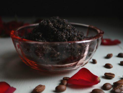 Bodyscrub med kaffegrums