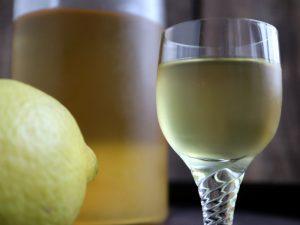 Limoncello lavet af citroner