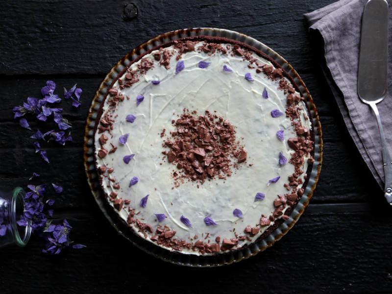 Banankage med hvid chokolade