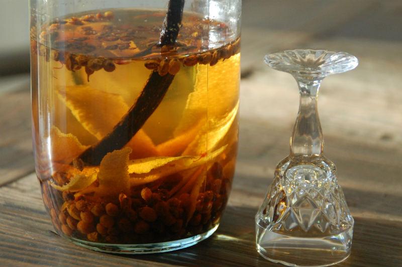 Havtornsnaps med appelsin og vanilje