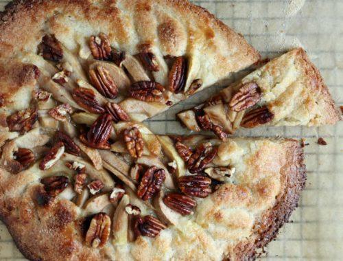 Pæregalette med nougat og pekannødder