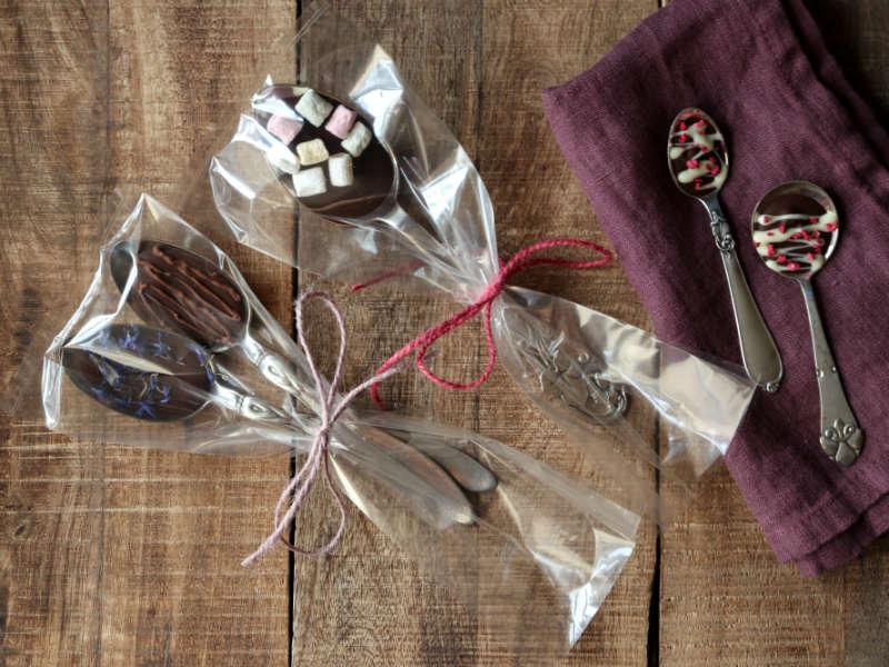 Hjemmelavede chokoladeskeer