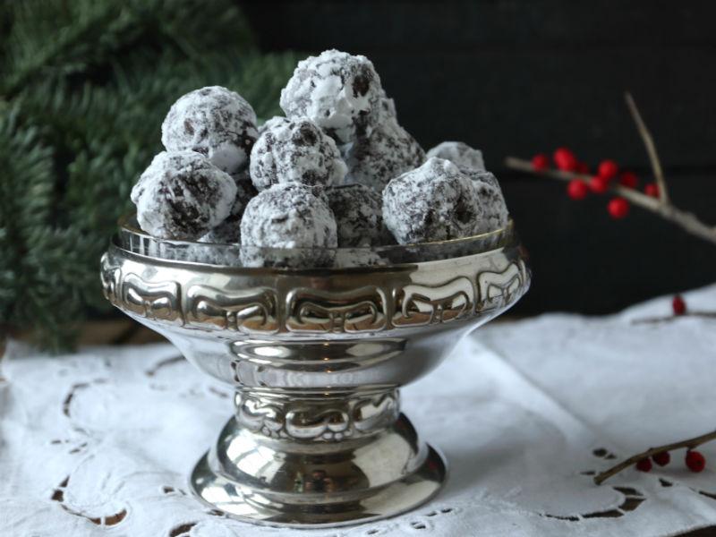 Hjemmelavede snebolde med limoncello