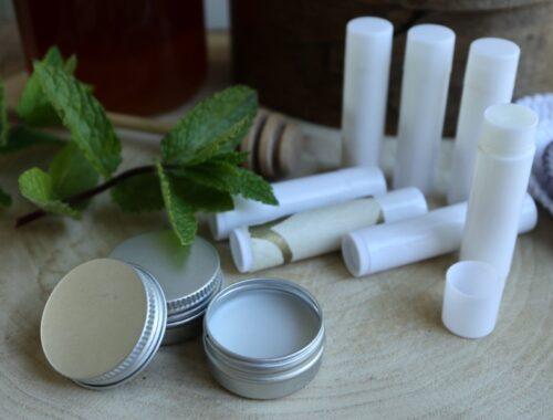 Hjemmelavet læbepomade med honning og mynte