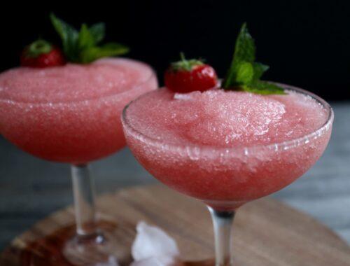Frosé med jordbær
