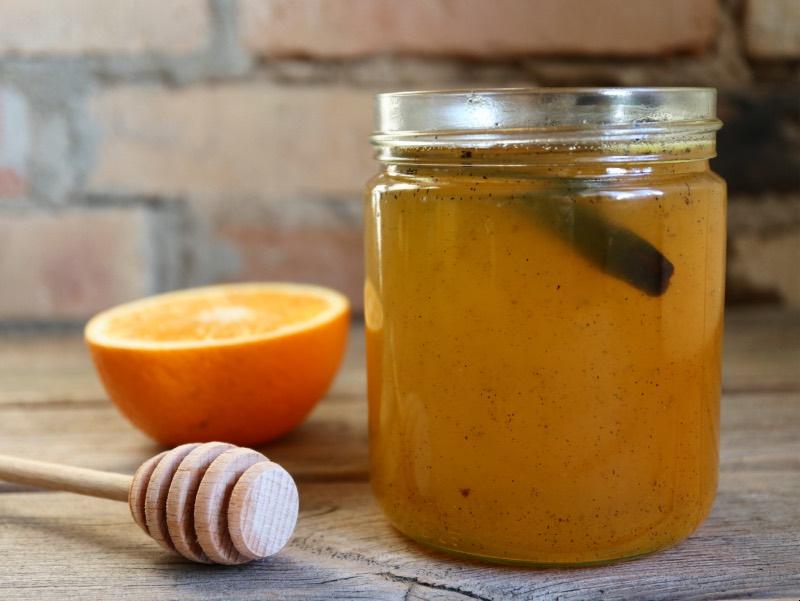 Appelsinsirup med vanilje