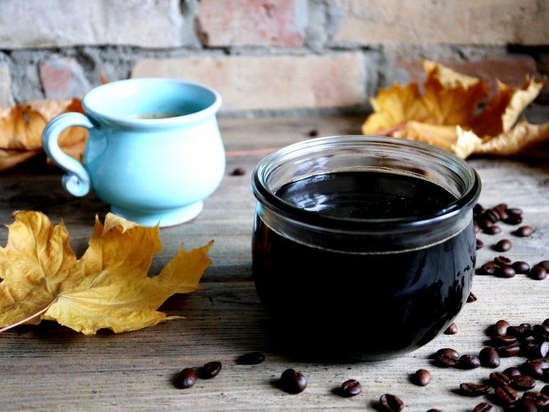Sirup lavet på kaffe