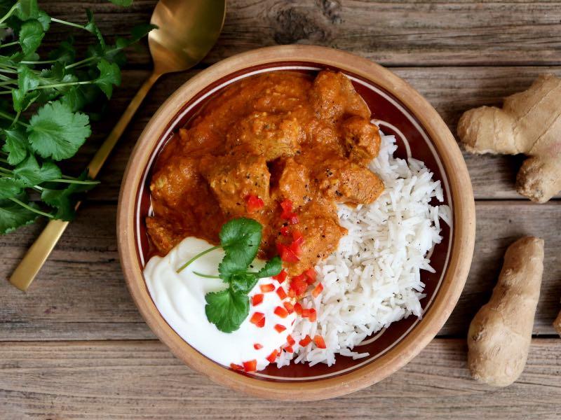 Krydret indisk ret med kylling